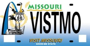 Missouri Travel Council Official License Plate
